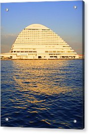Buildings Acrylic Print featuring the photograph Building At Kobe Harbor by Roberto Alamino
