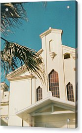 Building Behind Palm Tree In Ostia, Rome Acrylic Print