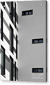 Acrylic Print featuring the photograph Building Block - Black And White by Wendy Wilton