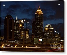 Acrylic Print featuring the photograph Building Boom Midtown Atlanta Construction Art by Reid Callaway