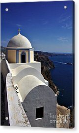 Building In Fira Acrylic Print