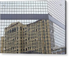 Building Reflection Acrylic Print by Jean Booth