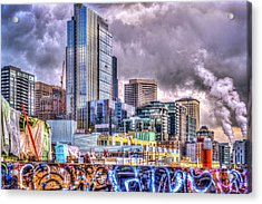 Building Seattle Acrylic Print by Spencer McDonald