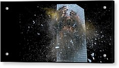 Acrylic Print featuring the digital art Building_explosion by Marcia Kelly