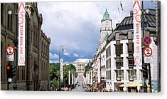 Buildings Along A Street With Royal Acrylic Print by Panoramic Images