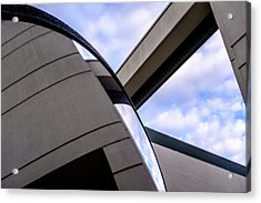 Buildings And Shapes With A Blue Sky In Orlando Florida Acrylic Print