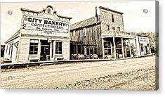 Buildings In The Eighteen Hundreds Town Of Fort Steele Bc Canada Acrylic Print by Emilio Lovisa