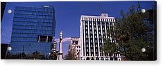 Buildings Near Confederate Monument Acrylic Print by Panoramic Images