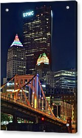 Buildings Towering Over Pittsburgh Acrylic Print