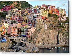 Acrylic Print featuring the photograph Built On The Slope by Frozen in Time Fine Art Photography