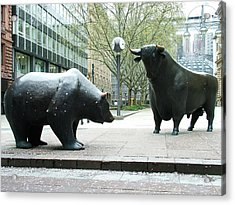 Bull And Bear Acrylic Print
