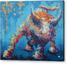 Bull Market X Acrylic Print