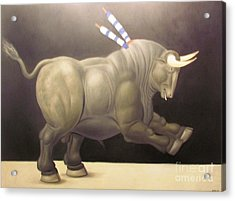 bull painting Botero Acrylic Print