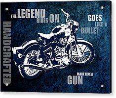Bullet Blues With Caption Acrylic Print