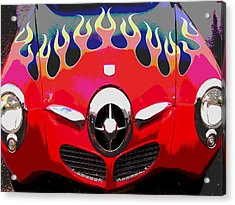 Bullet Nose Studebaker Acrylic Print by Audrey Venute