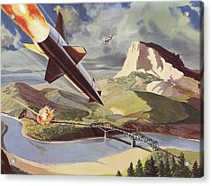 Bullpup Air To Surface Missile Acrylic Print by American School