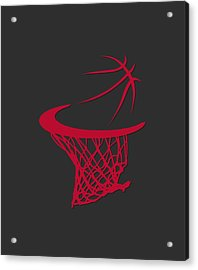 Bulls Basketball Hoop Acrylic Print by Joe Hamilton