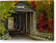Bulls Covered Bridge Acrylic Print by Susan Candelario