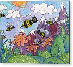Bumble Bee Buzz Acrylic Print