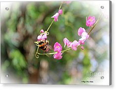 Acrylic Print featuring the photograph Bumble Bee2 by Megan Dirsa-DuBois