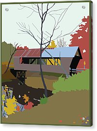 Bump Bridge Acrylic Print by Marian Federspiel