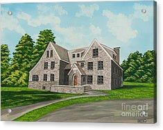 Bunch House Acrylic Print by Charlotte Blanchard