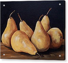 Bunch Of Bosc Pears  Acrylic Print