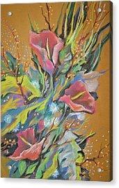 Bunch Of Flowers Acrylic Print by Olena Chernyshova
