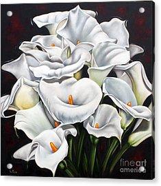 Bunch Of Lilies Acrylic Print by Ilse Kleyn
