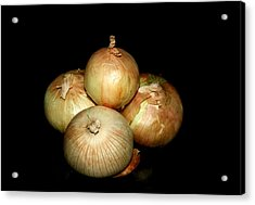 Bunch Of Onions Acrylic Print by Cathy Harper
