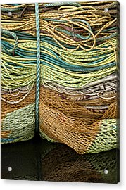 Bundle Of Fishing Nets And Ropes Acrylic Print