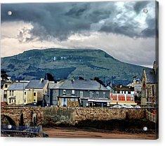 Bundoran - Bridge Bar - Looking Towards Dartry Mountains Acrylic Print