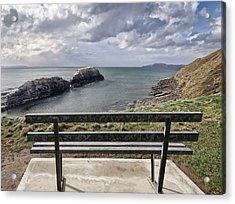 Bundoran - View Over The Diving Platform At Rougey Rocks Acrylic Print