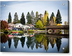 bungalows on the Deschutes Acrylic Print
