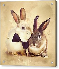 Bunnies Are In Love Acrylic Print