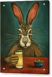 Acrylic Print featuring the painting Bunny Hops by Leah Saulnier The Painting Maniac