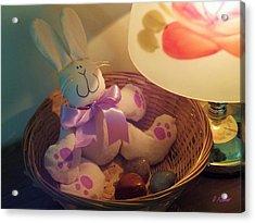 Bunny In A Basket Acrylic Print