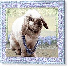 Bunny Wears Beads Acrylic Print