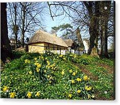 Bunratty Cottage Acrylic Print by John Quinn