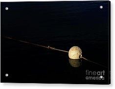 Acrylic Print featuring the photograph Buoy At Night by Stephen Mitchell