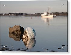 Acrylic Print featuring the photograph Buoy Reflection by Kirkodd Photography Of New England
