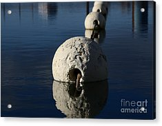 Acrylic Print featuring the photograph Buoy Upfront by Stephen Mitchell