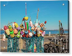 Buoys In Provincetown Acrylic Print by Ben Hughes