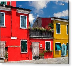 Acrylic Print featuring the photograph Burano Color Houses. by Juan Carlos Ferro Duque