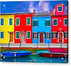 Acrylic Print featuring the photograph Burano Colorful Houses by Juan Carlos Ferro Duque