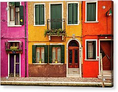 Burano Colors Acrylic Print by Andrew Soundarajan