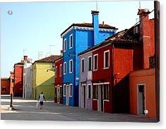 Burano Colors Acrylic Print by Diego Bonomo