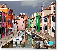 Burano Colours Acrylic Print
