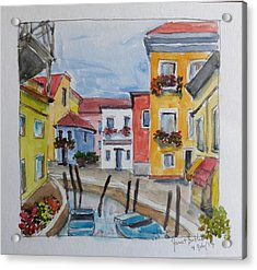 Burano, Italy Acrylic Print by Janet Butler