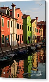 Acrylic Print featuring the photograph Burano Reflections by Dennis Hedberg